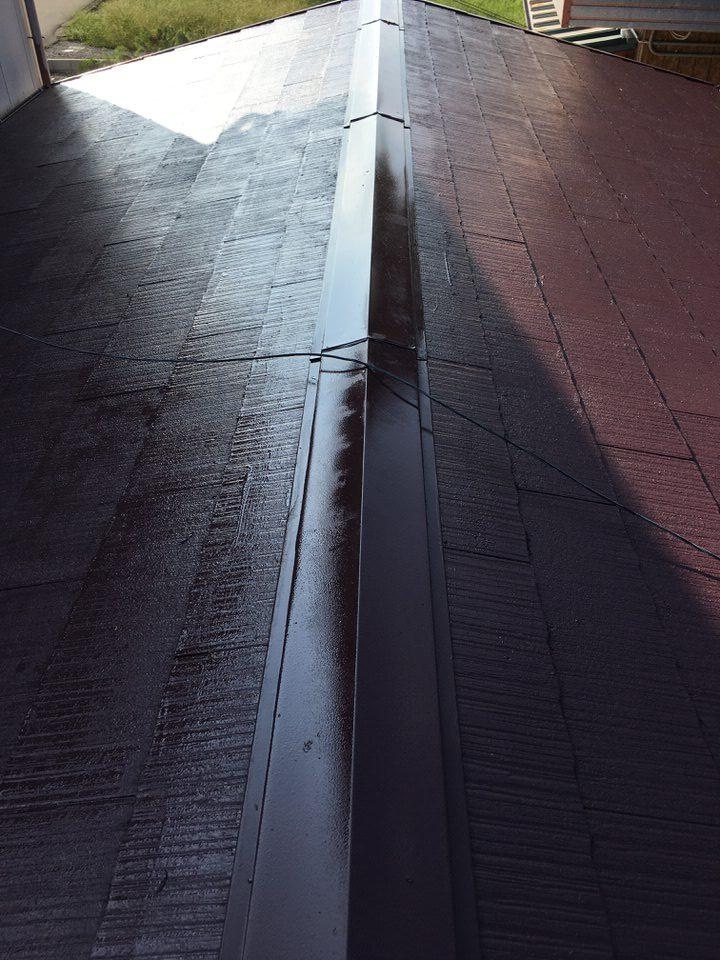 カラーベスト屋根塗装完成。