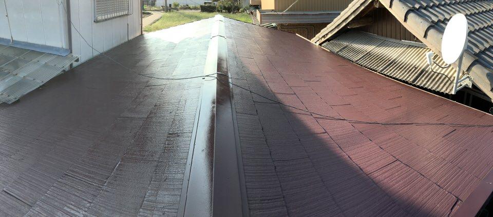 カラーベスト屋根塗装をパノラマ撮影