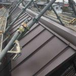 カブト屋根の棟部分の張替え
