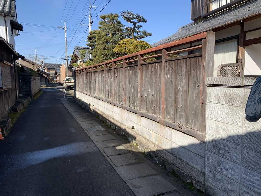 塀建て替えを逆方向から撮影