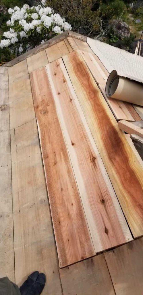 野地板部分補修