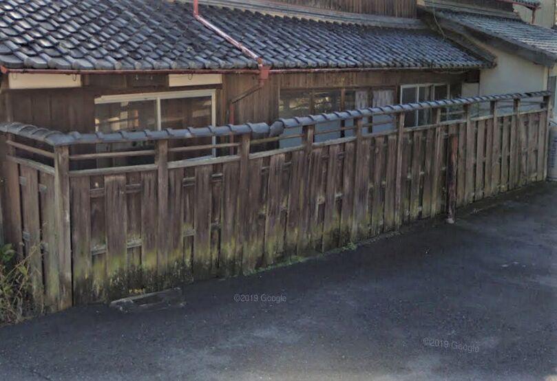木製塀施工前