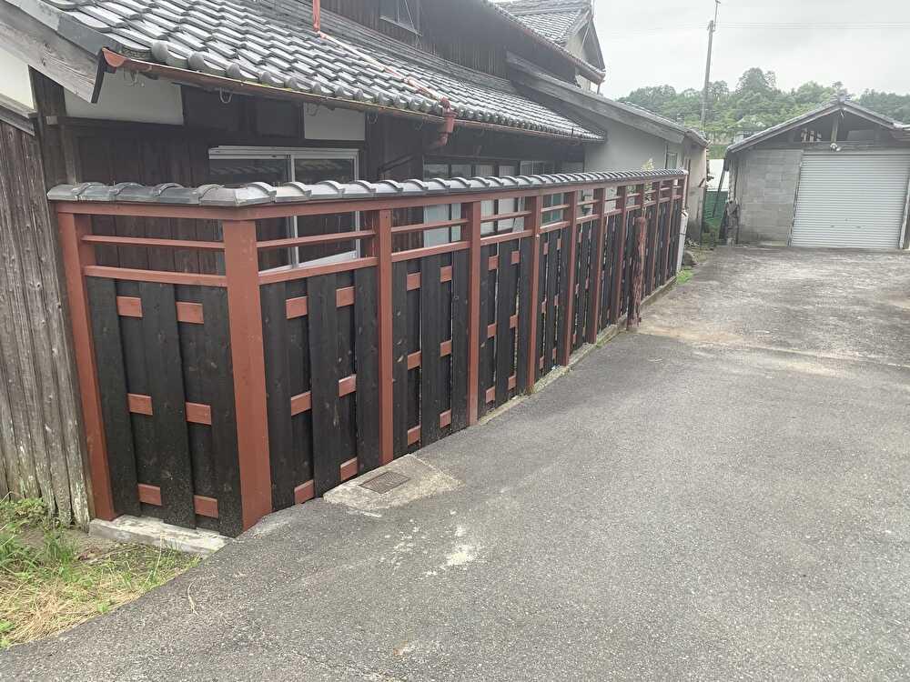 新規塀作製完了