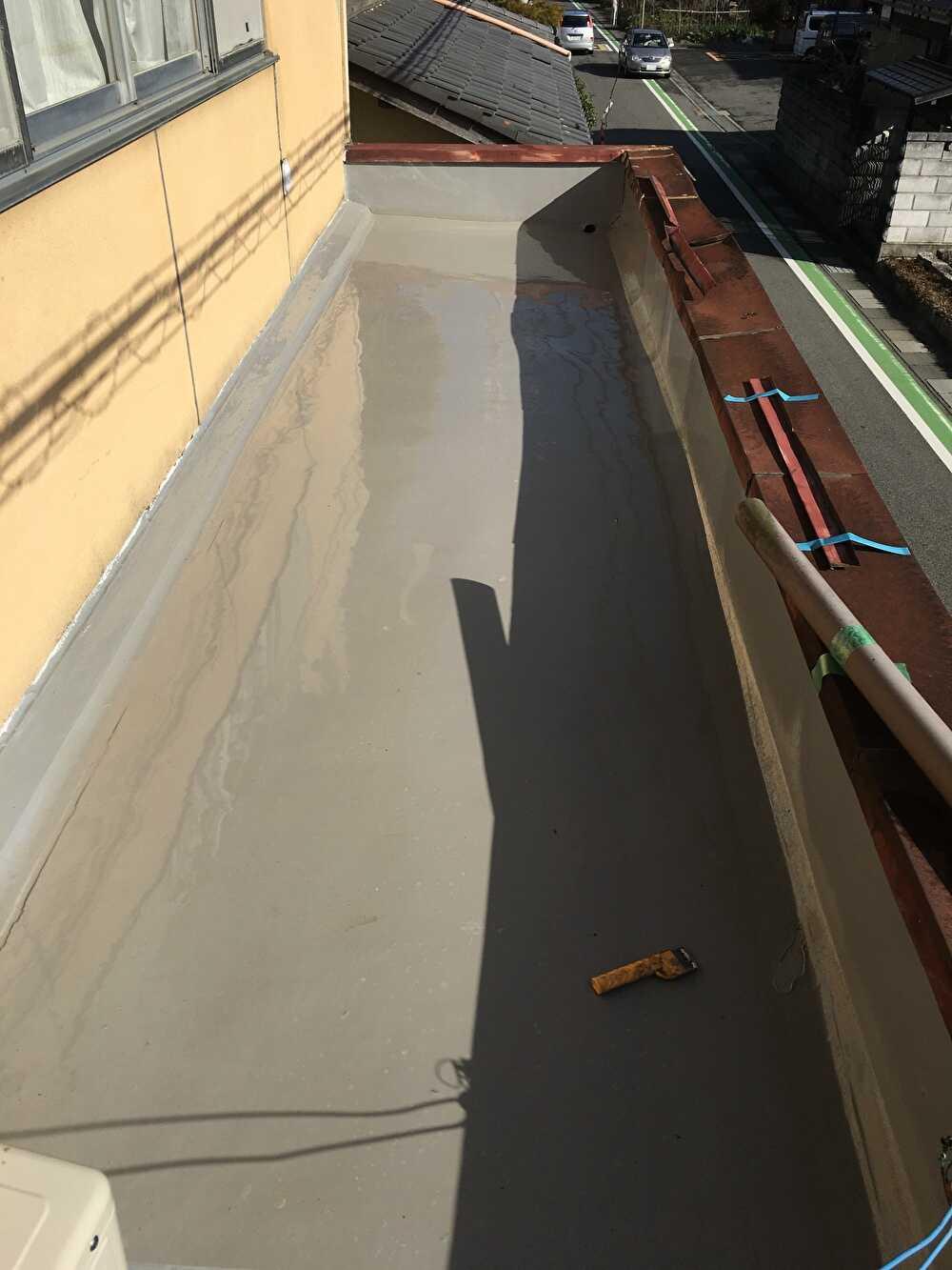 防水塗装完成