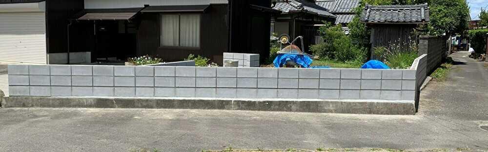 12cmブロックを施工