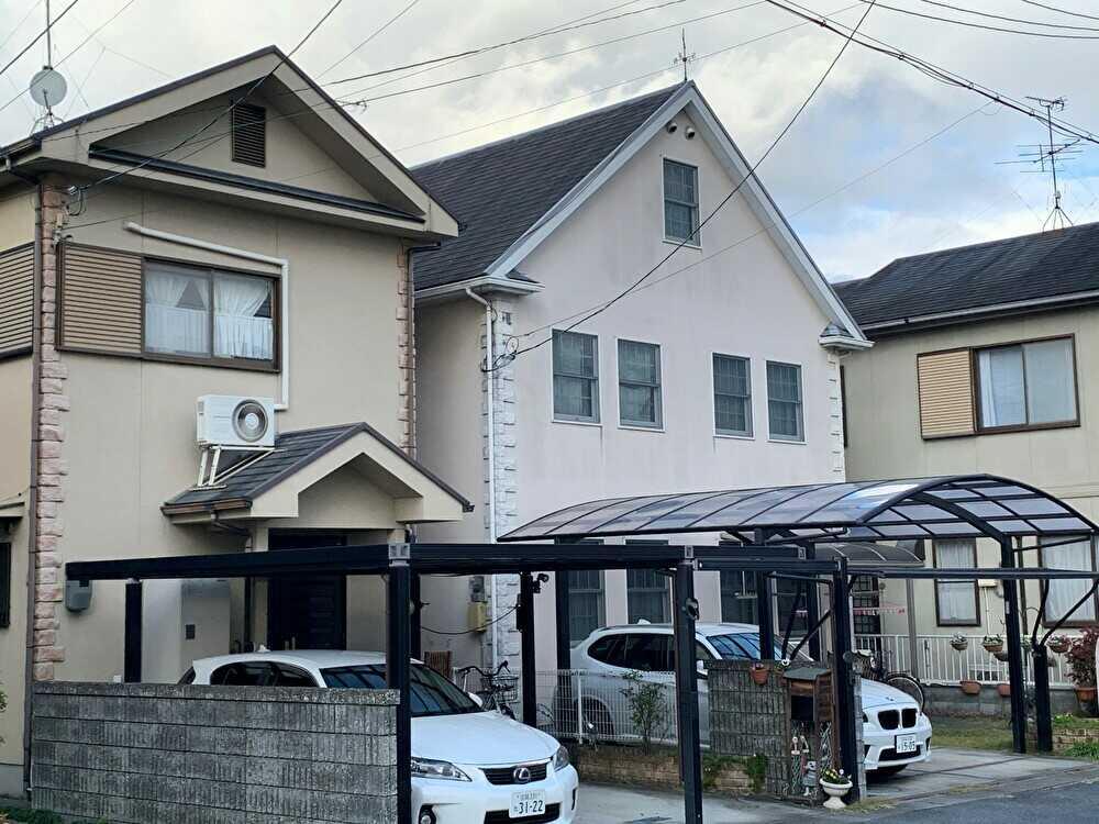 屋根と外壁塗装の施工前