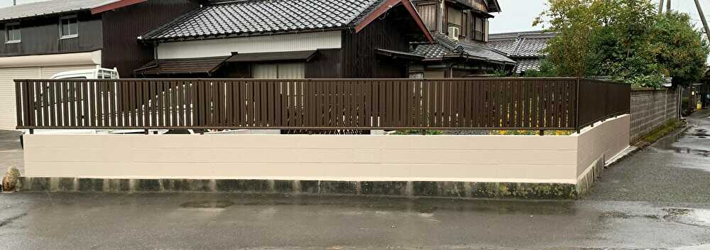 ブロック積み→フェンス