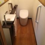 洋式トイレに変更完了