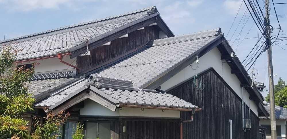 下屋瓦葺き替え 甲賀市
